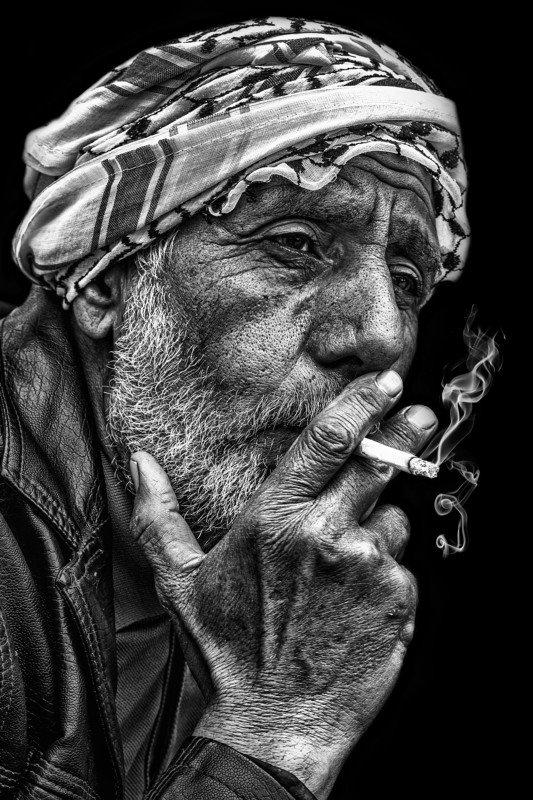 portrait Fisherman Smokingphoto preview