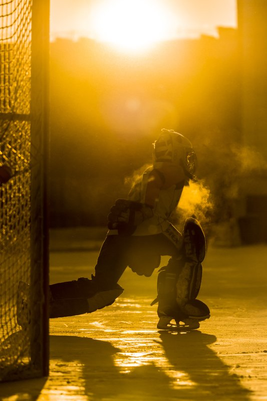 хоккей солнце вратарь спорт дети Солнечный защитник вратphoto preview