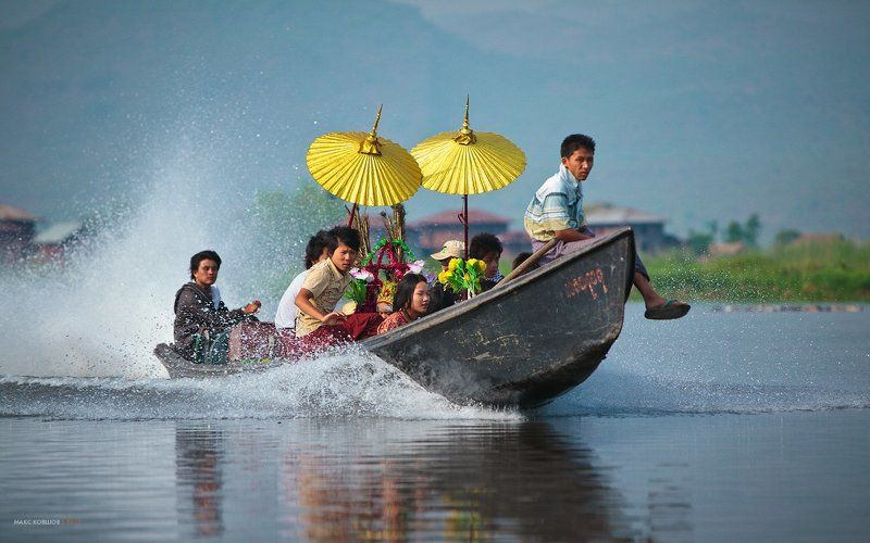 Мьянма бирма, Невеста, Озеро инле, Свадьба Свадьбы на озереphoto preview