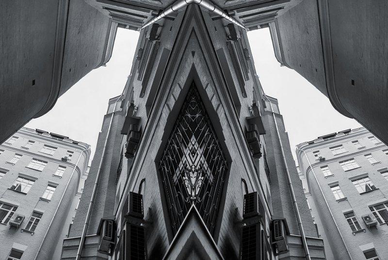 здания, графика, геометрия, дома Геометрические фантазииphoto preview