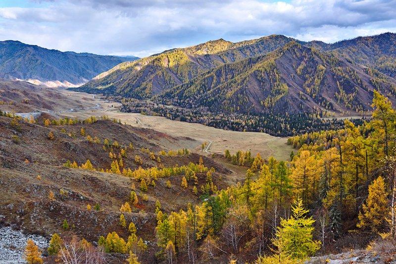 пейзаж, горы, облака, осень, Горный Алтай  Осенний Горный Алтай photo preview