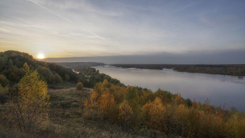 рек осень закат Ока.photo preview