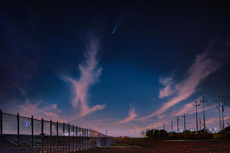 C/2020 F3 (NEOWISE) на небе Яшмыphoto preview