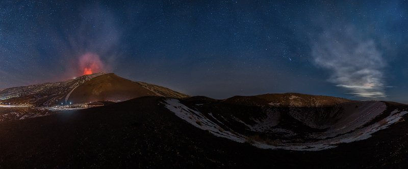 etna,volcano,stars,orion,costellation,eruption,sicily,italy,crater A magical night on the Etna volcanophoto preview
