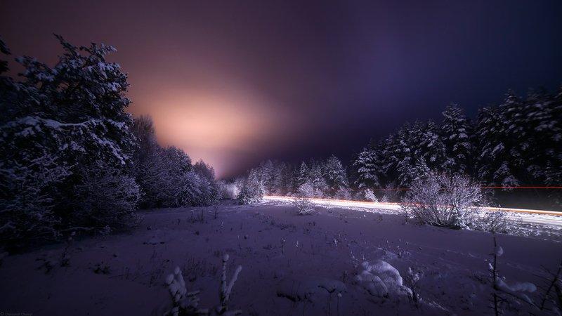 украина, коростышев, зима, снег, лес, снегопад, ночь, декабрь Закрыть глаза и идти в темноте...photo preview