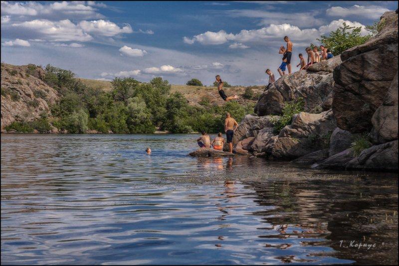 река,пацаны,отдых,каникулы,лето,прыжок,купание Опыт левитацииphoto preview