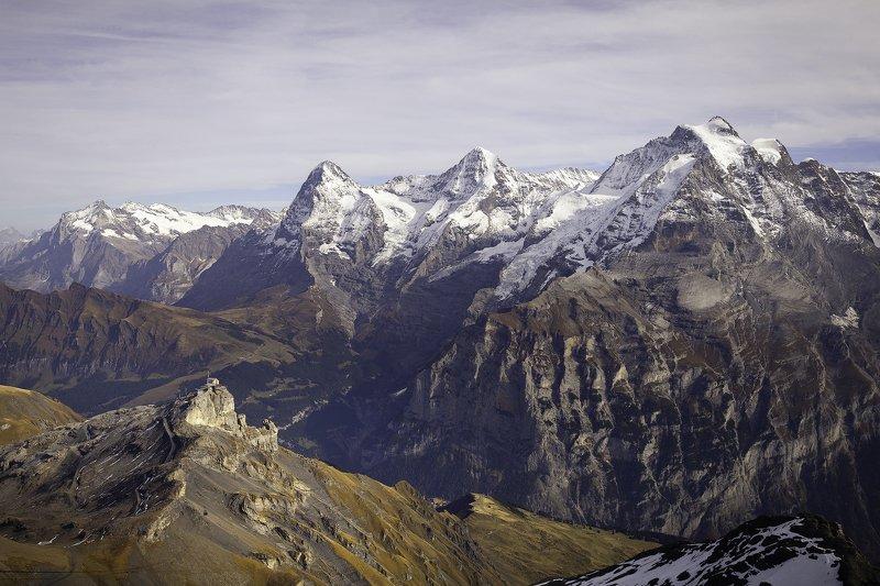 горы,снег,осень,противостояние,гигант,лиллипут,туризм,швейцария, *Противостяние*photo preview