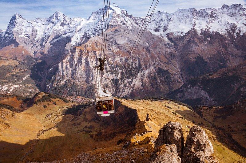 горы,снег, подъемник,швейцария, туризм, *Полетели*photo preview