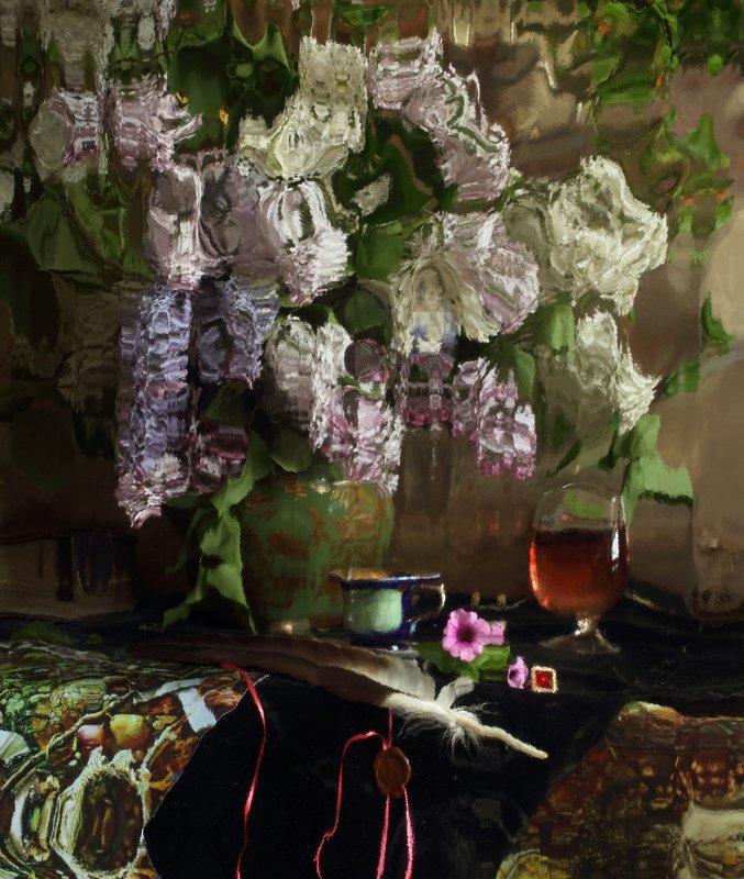 сирень, цветы, отражение, букет, натюрморт Натюрморт с цветамиphoto preview