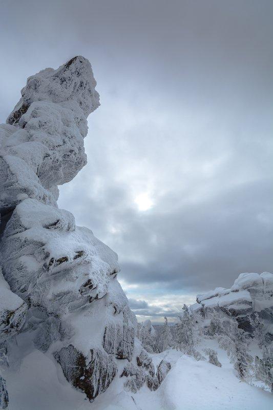 горы урал зима непогода тучи  Страна застывших великановphoto preview