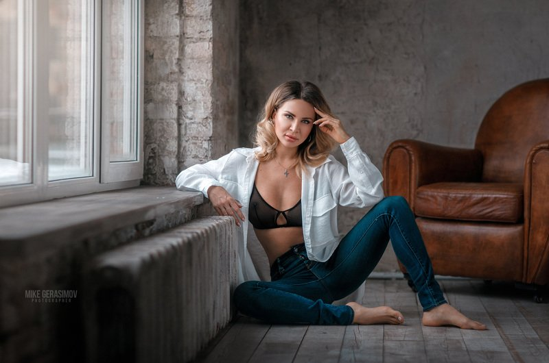 портрет девушка взгляд portrait белье красиво Алёнаphoto preview