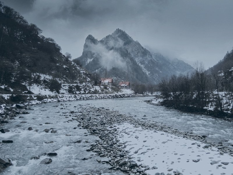 горы, зима, кчр, учкулан, природа, зима, кавказ, ***photo preview