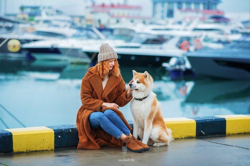 сочи, порт, морвокзал, яхты, sochi, акита, собака, dog, портрет, зима, море, winter, друзья, happy, любовь, love, 105mm, beautiful, nikon ***photo preview