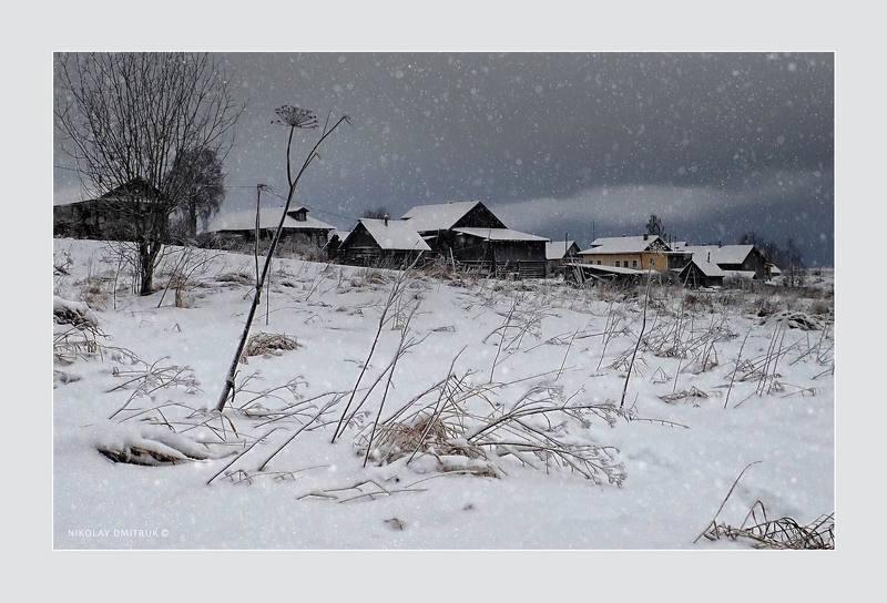 пейзаж, зима, мороз, снег, дмитрук, музыка деревня Ивойловская. 2020photo preview