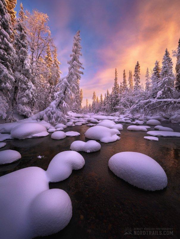 кольский, кольский полуостров, кандалакша, зима, winter, snow, north Зимний закат на Кольскомphoto preview