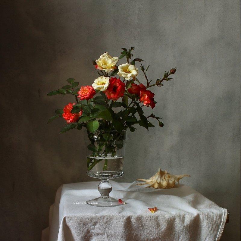 натюрморт, букет, розы, осень Осенние розочкиphoto preview