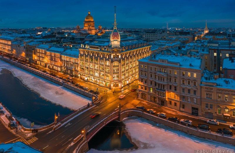 россия, петербург, зима Au pont rouge фото превью