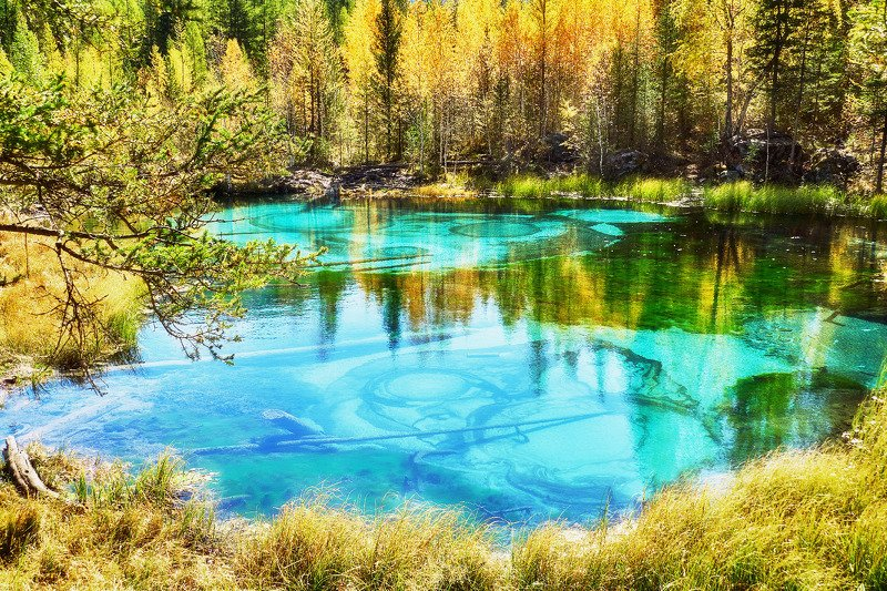 пейзаж, осень, озеро, Горный Алтай.  Краски осени Горного Алтая photo preview