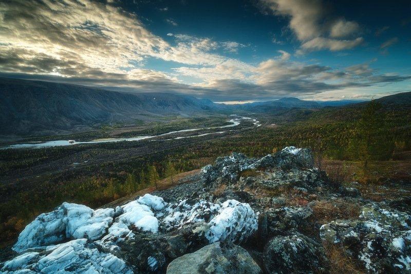 россия, урал, полярный урал, ямао, ямал, пейзаж, природа, осень, горы, река, озеро, закат, тундра, заполярье, поток Собьphoto preview