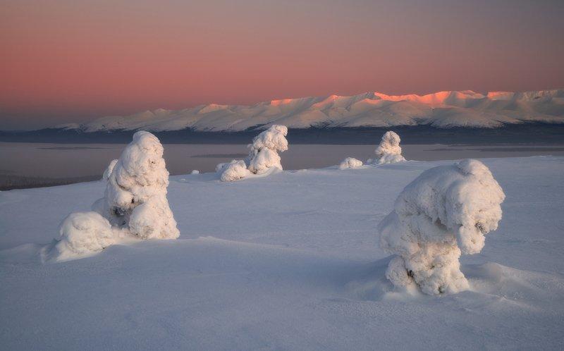 пейзаж,россия,колський,север,зима,полярная ночь,никон,мурманская область  Хибины на рассветеphoto preview