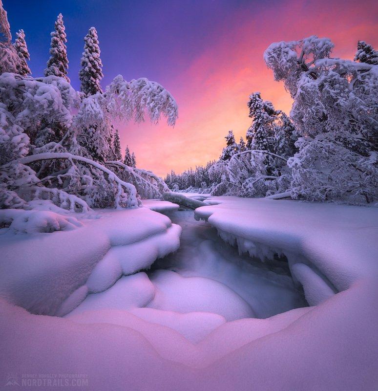 кольский, кольский полуостров, кандалакша, кировск, мурманск, зима, winter, snow, north Январь по-Кольскиphoto preview