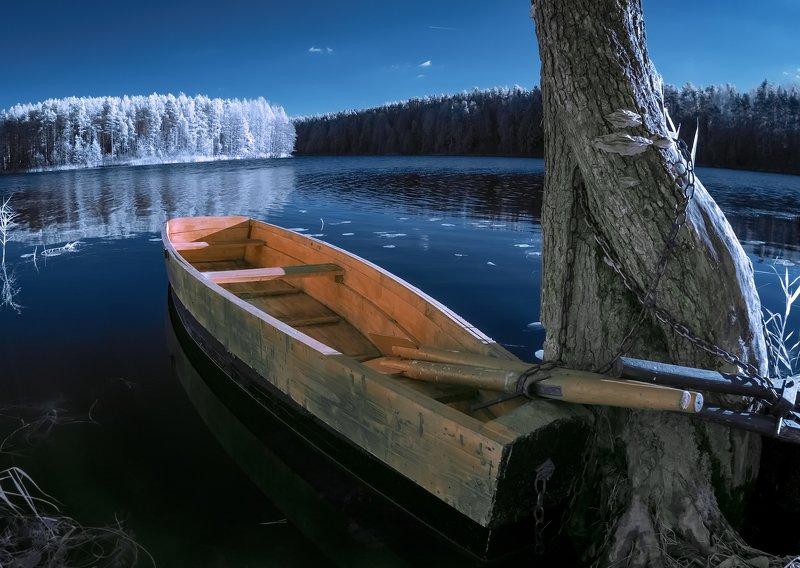 infrared,ик-фото,инфракрасное фото, инфракрасная фотография, пейзаж, осень В теплом октябре.photo preview