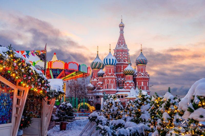 покровский собор, собор василия блаженного, зима, утро, москва Зимнее утро у Покровского собораphoto preview