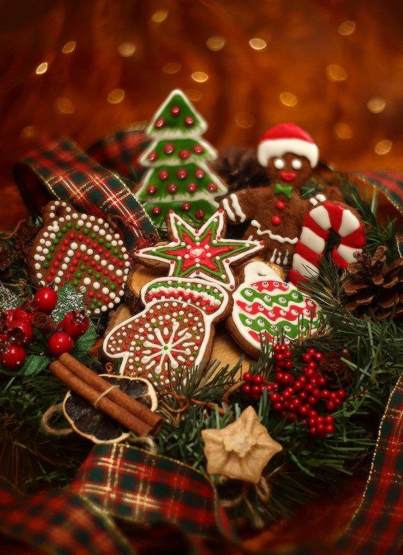новый, год, зима, праздник, пряники Новогоднееphoto preview
