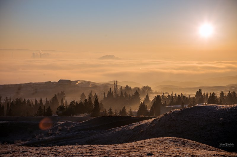 new year, happy, morning, landscape, sunrise, clouds, over clouds, outdoor, road, city Happy New Year!photo preview