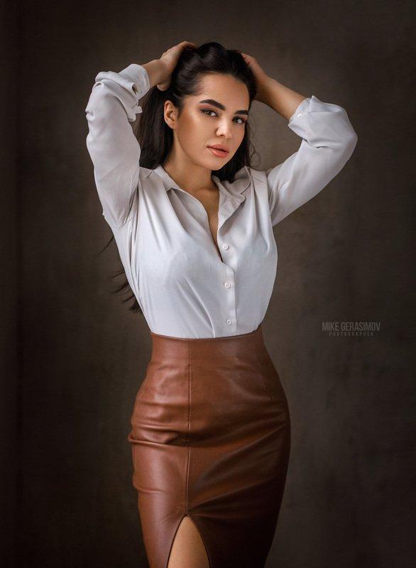 портрет девушка взгляд portrait белье красиво Айяphoto preview