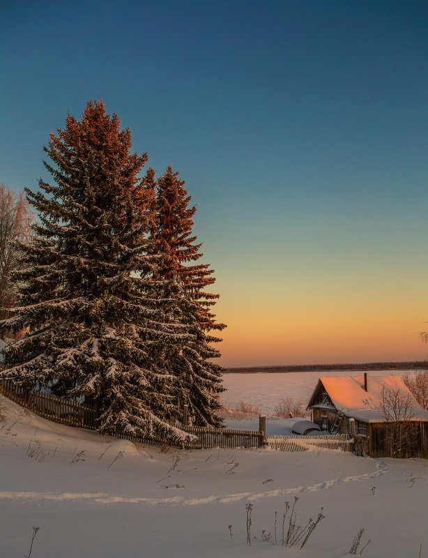 природа,коми,север,холод,мороз,закат,nature, komi, north, cold, frost, sunset, - 35 Вот и Новый 2021годphoto preview