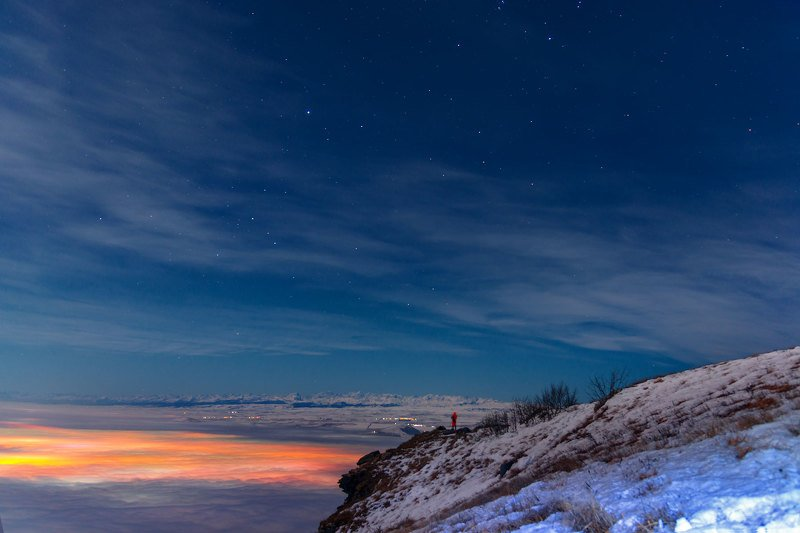 ночь,звезды,туман,пейзаж На  границе мировphoto preview