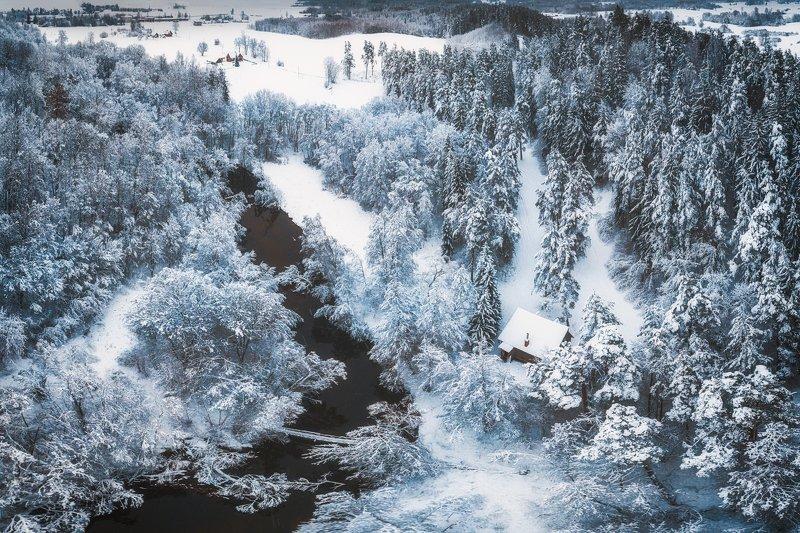 landscape,winter,snow,river,forest,trees,nature,frozen Winter Wonderlandphoto preview