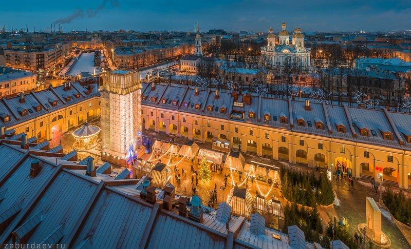россия, петербург, зима, новый год Никольские ряды фото превью