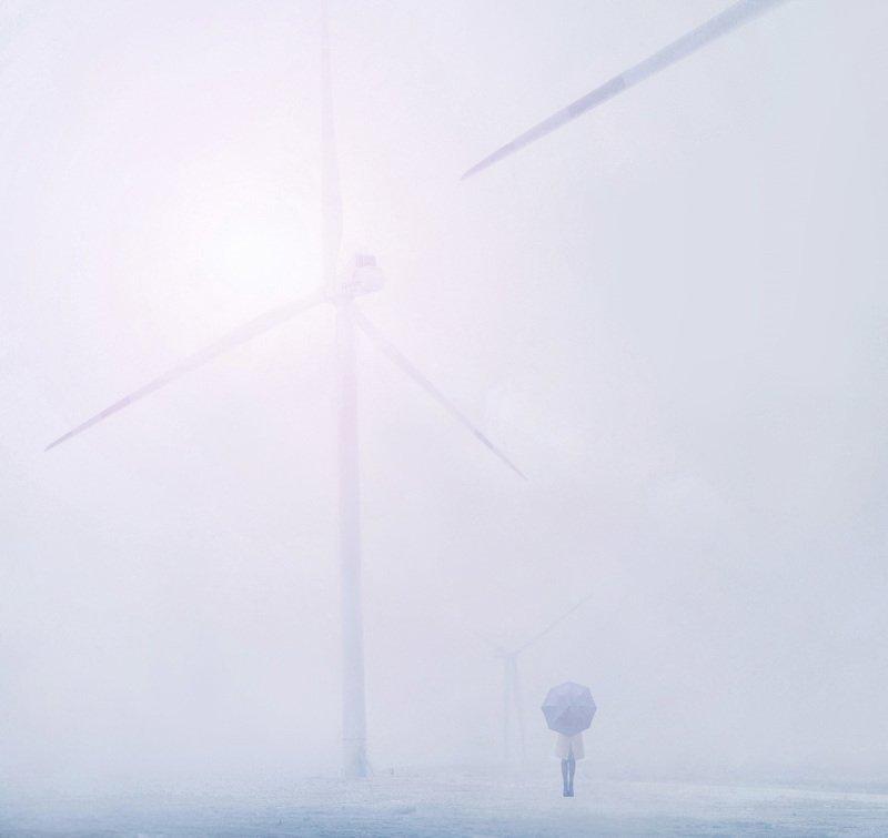 ветропарк,туман,зима,зонт Млечностьphoto preview