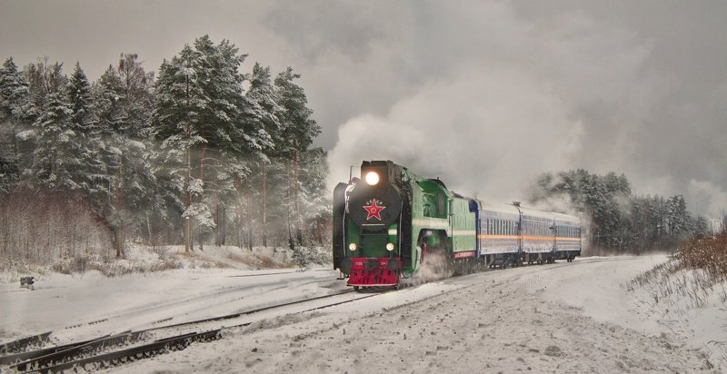паравоз, железная дорога, ретро, поезд, снег, зима, ***photo preview