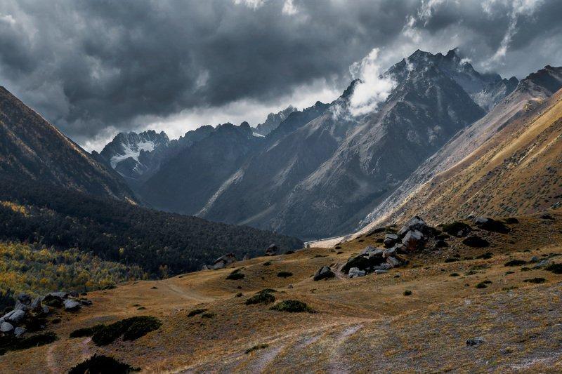 горы, перевал,кбр, природа, осень, кавказ, ***photo preview