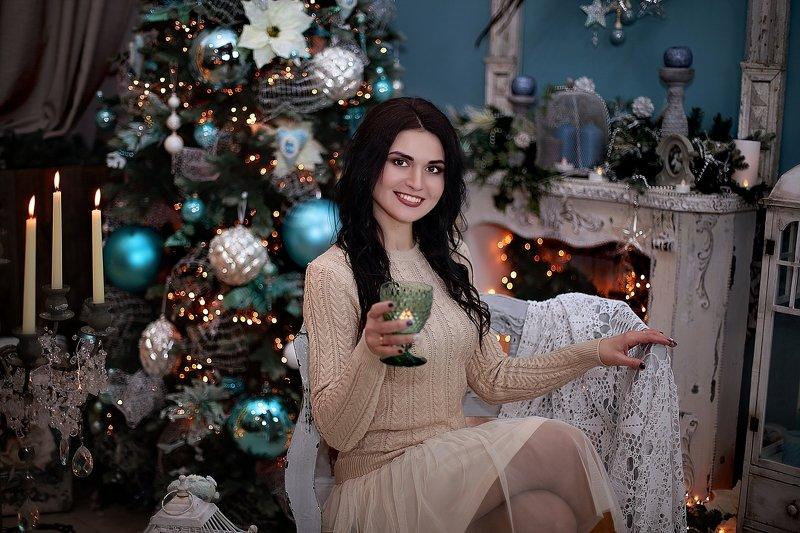 студия, помолейко, девушка, новогоднее, студия, фотостудия, портрет С Рождеством Христовым!photo preview