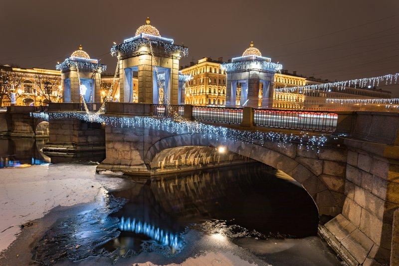 санкт-петербург, мост, новый, год, рождество, гирлянда, ломоносов Новый год в Питереphoto preview