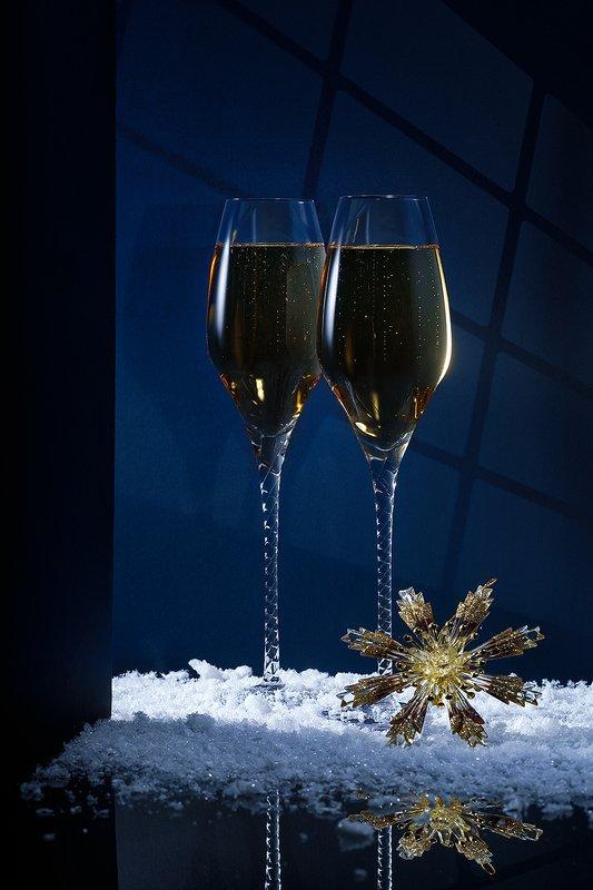 бокалы, напитки, предметная съемка, праздник, шампанское Накануне... фото превью