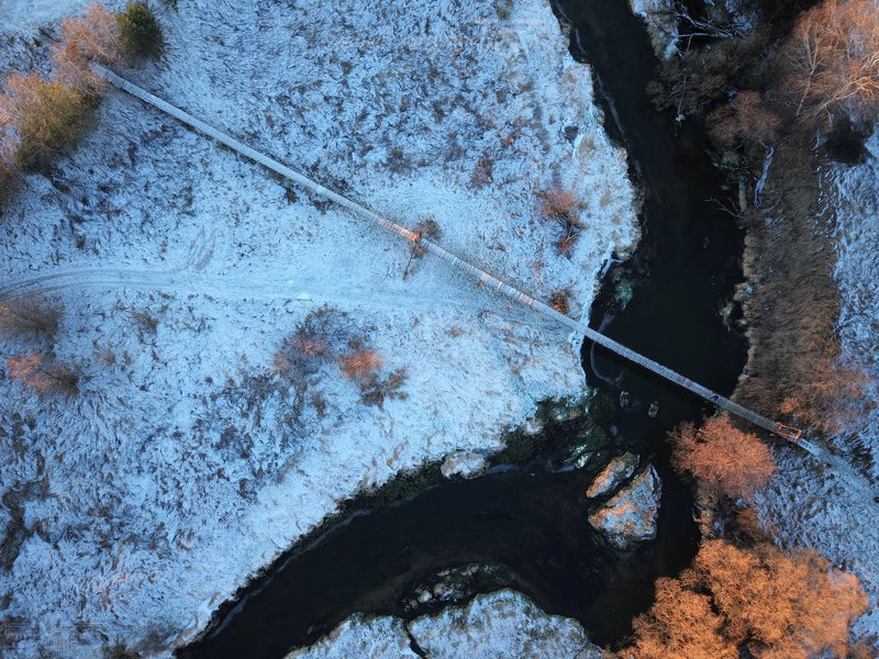 аэросъемка, дрон, река, зима, dronephoto Лук и стрелаphoto preview
