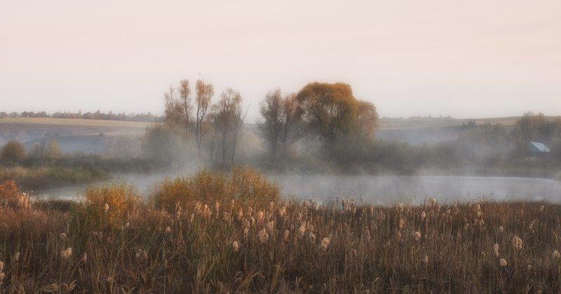 октябрю утро туман природа Утро.photo preview