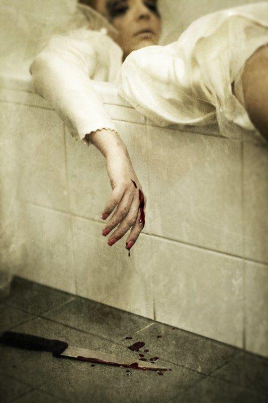 bride hotel blood creepy knife wedding Suicide Bridephoto preview