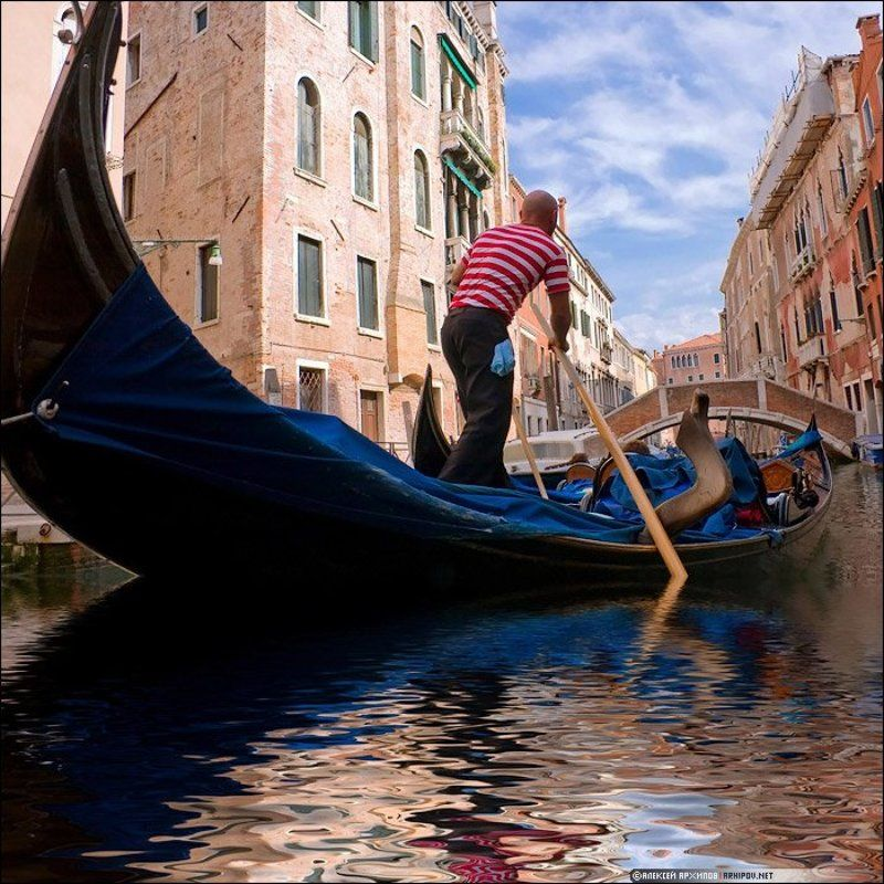 италия, венеция, гондола, гондольер Гондольерphoto preview