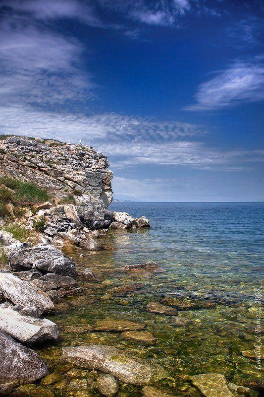 озеро, байкал, остров, ольхон, скалистый, берег, чайка чайкаphoto preview