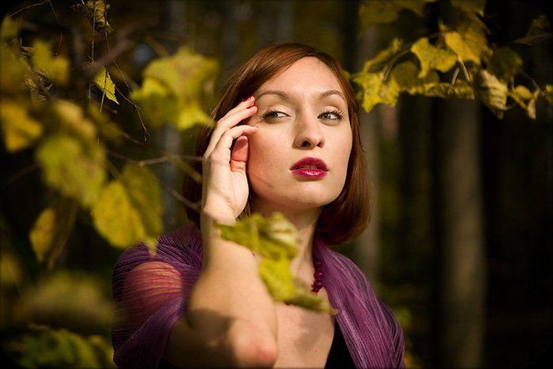 портрет, осень, девушка,  екатерина ***photo preview