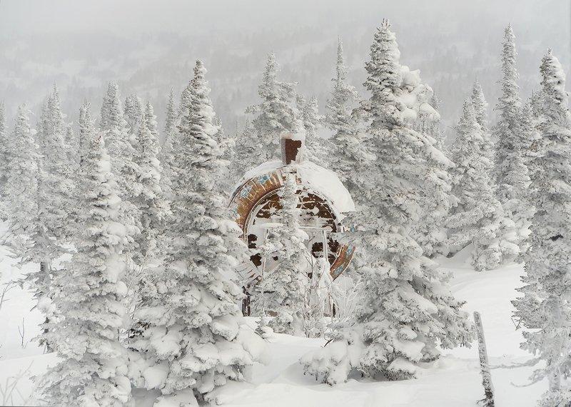 снег, иней, мороз, зима, пихты, гора зелёная, шерегеш, горная шория, сибирь И снова, про Шерегеш!)photo preview