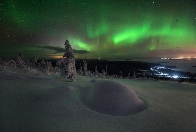 Пейзаж,сияние,хибины,кольский,север,ночь Минувшей ночьюphoto preview