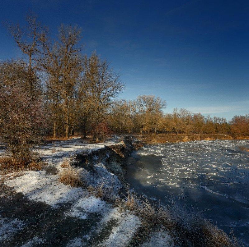 зима, мороз, иней, река ***photo preview