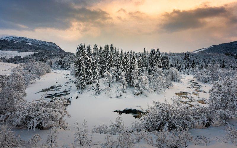 norway,landscape,light,sunset,winter Norwegian winterphoto preview